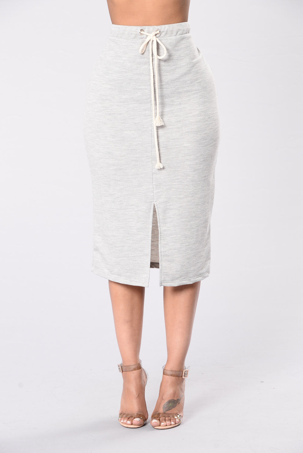 Fierce In Fleece Skirt - Grey