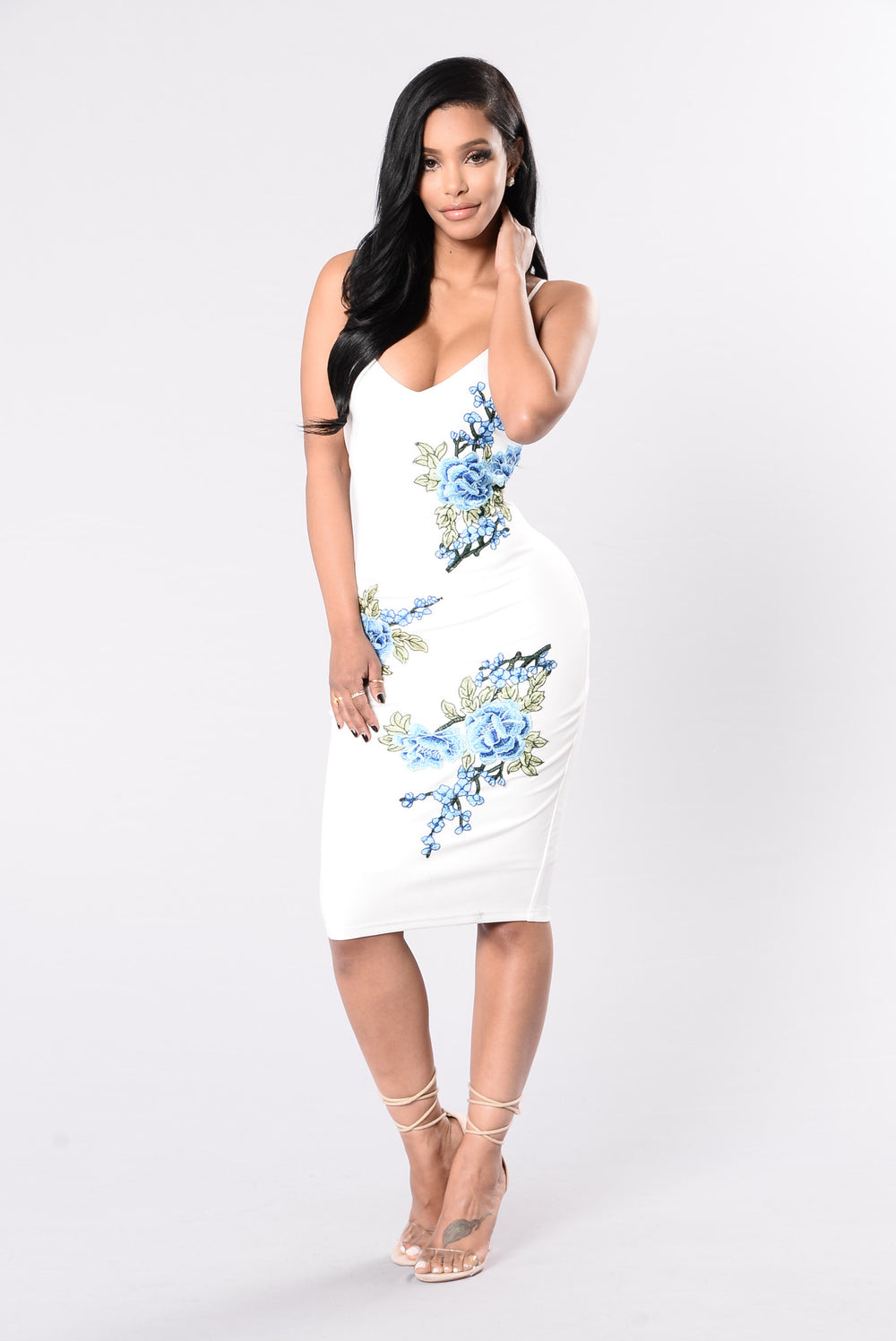 Patch This Dress - Blue Floral