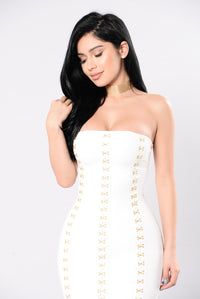 Hooked On Love Dress - White