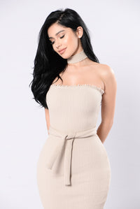 Articulate Dress - Taupe