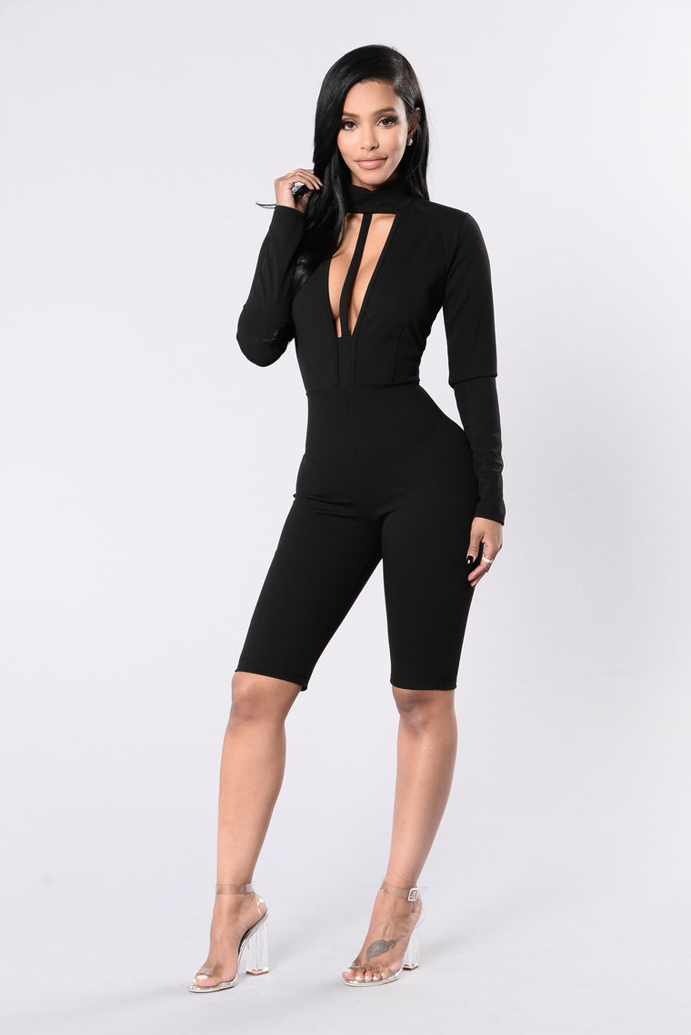 Walking Down The Strip Jumpsuit - Black