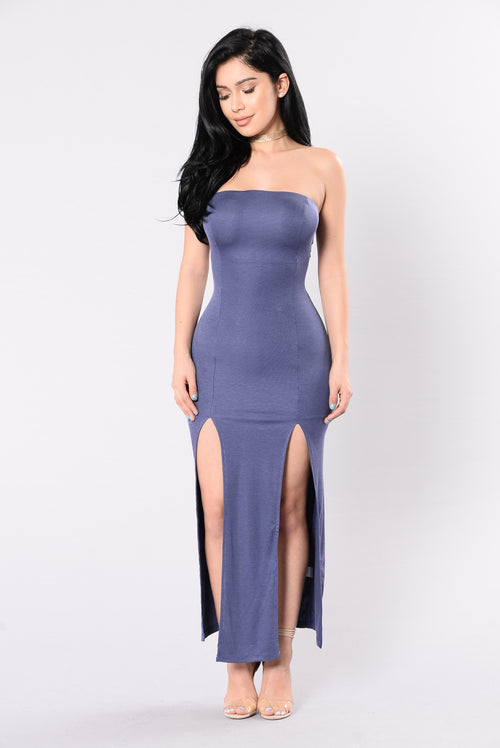 Strapless Blue Gown