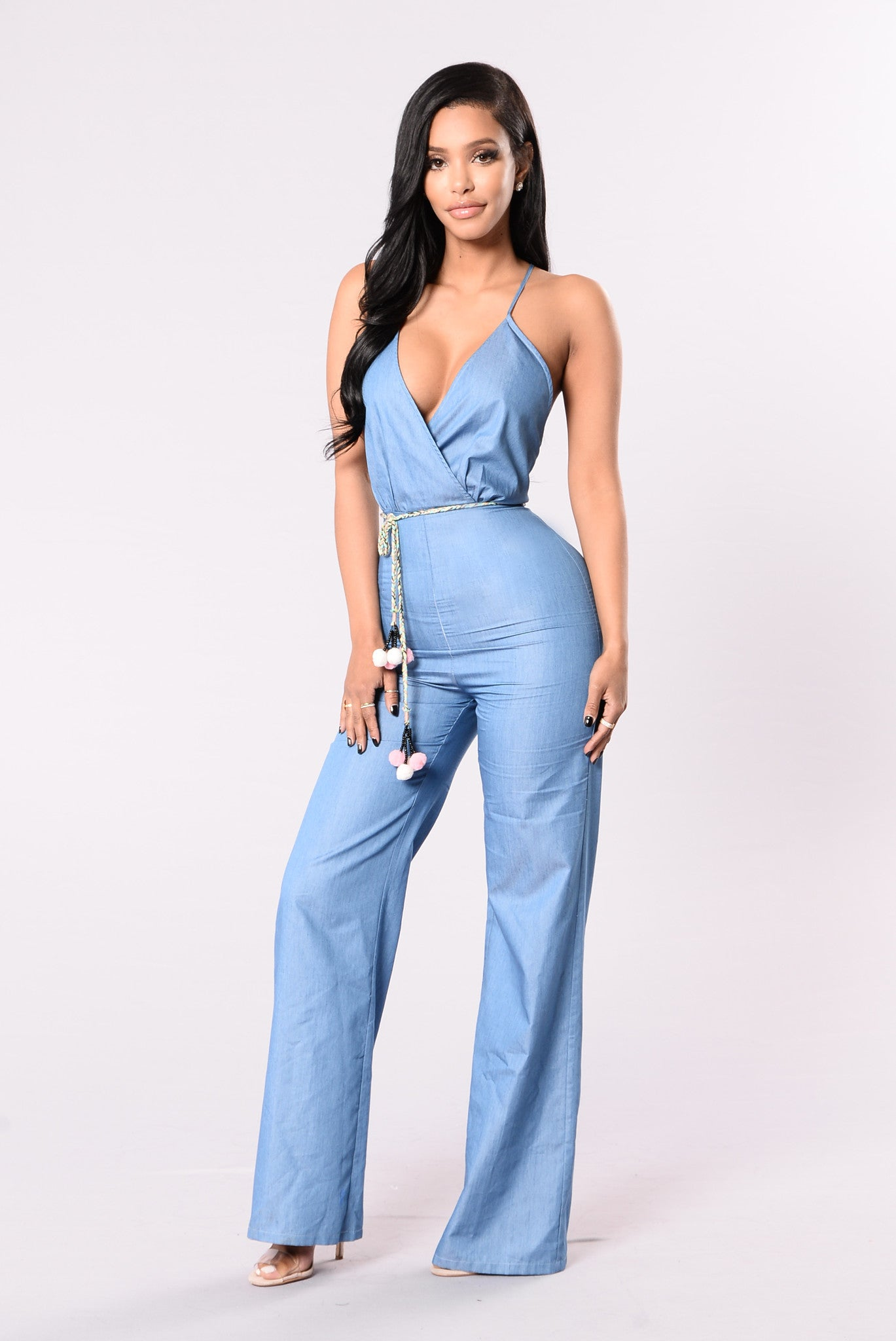 Buy SHEER-UP BABY BLUE JUMPSUIT for Women Online at Best Price in India is Rs Free Shipping, Cash on Delivery.