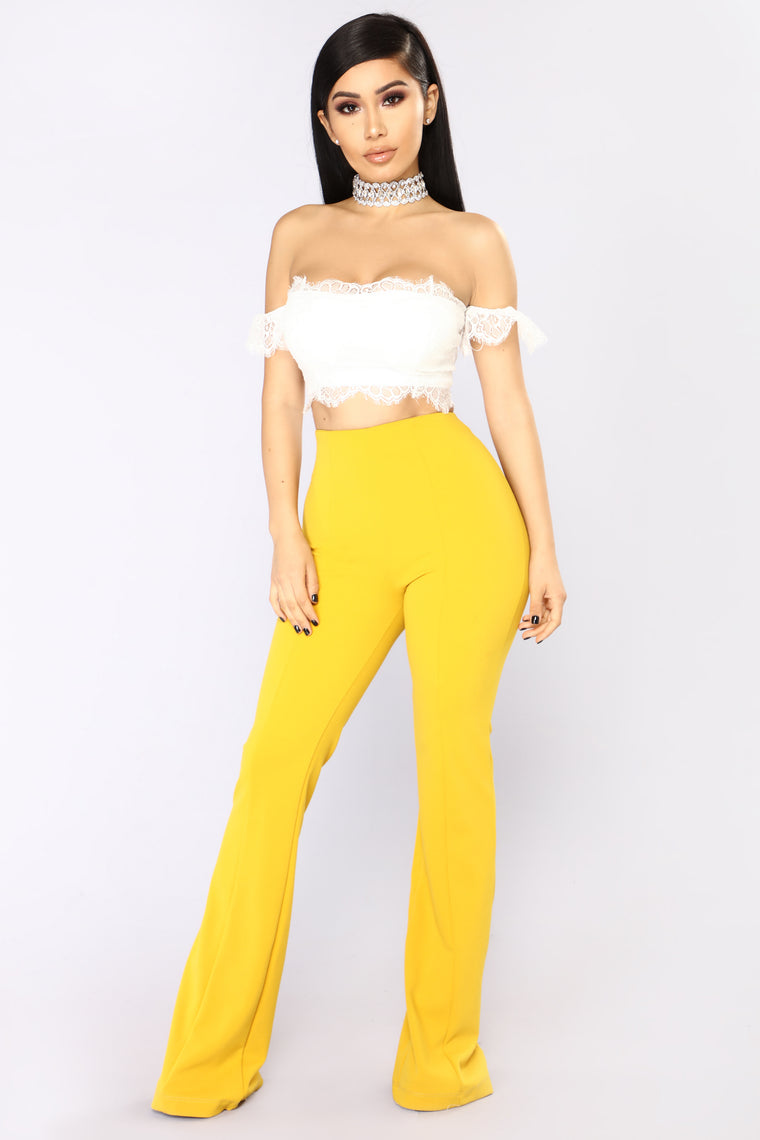 Take A Right On Crop Top - Ivory