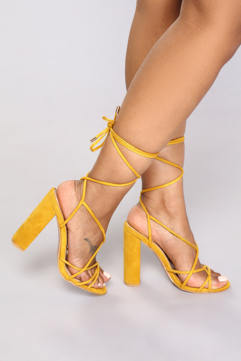 Wrap Her Up Heeled Sandal - Yellow