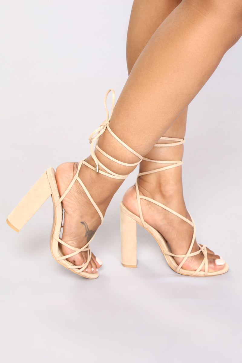 Wrap Her Up Heeled Sandal - Nude