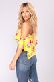Riley Off Shoulder Top - Yellow