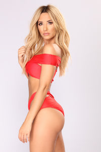 Deeper Than The Sea Bikini Set - Red