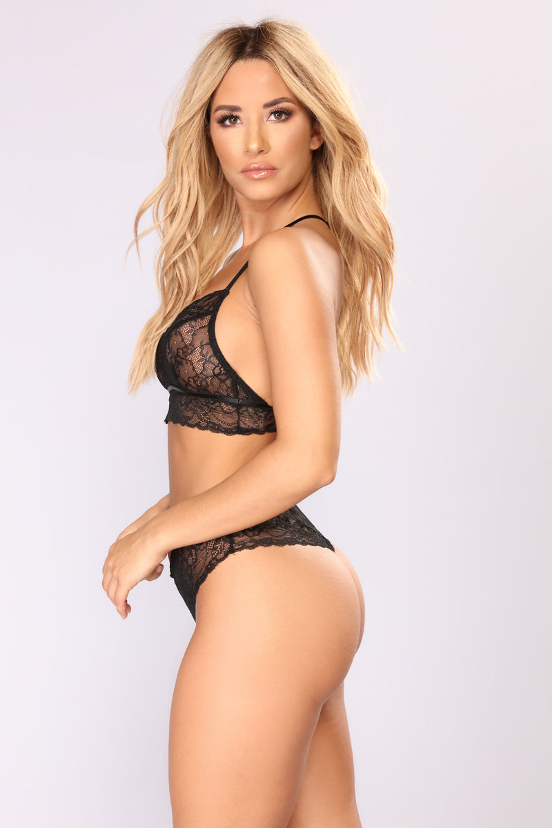 Sweet Dreams Lace Set - Black