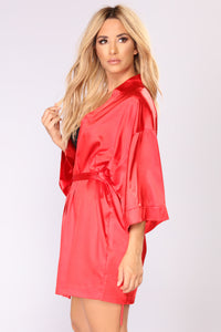 Lotus Robe - Red Angle 2