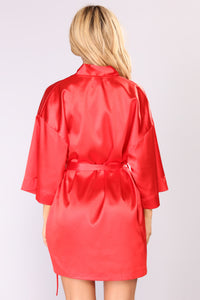 Lotus Robe - Red Angle 3
