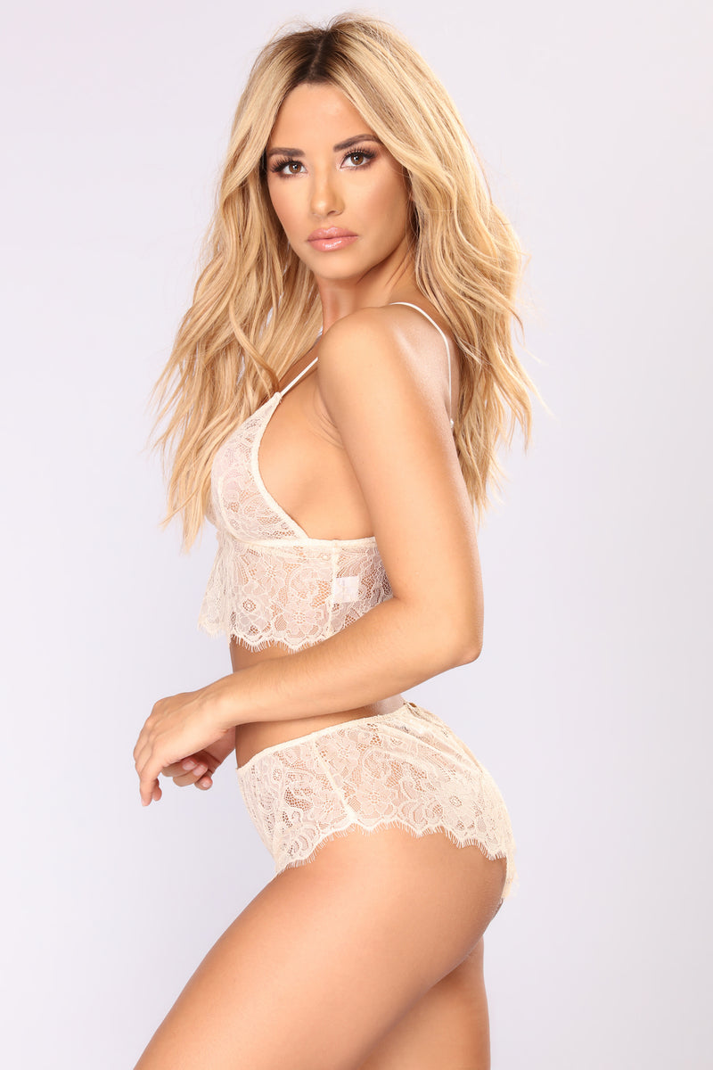 One More Night Lace Set - Nude
