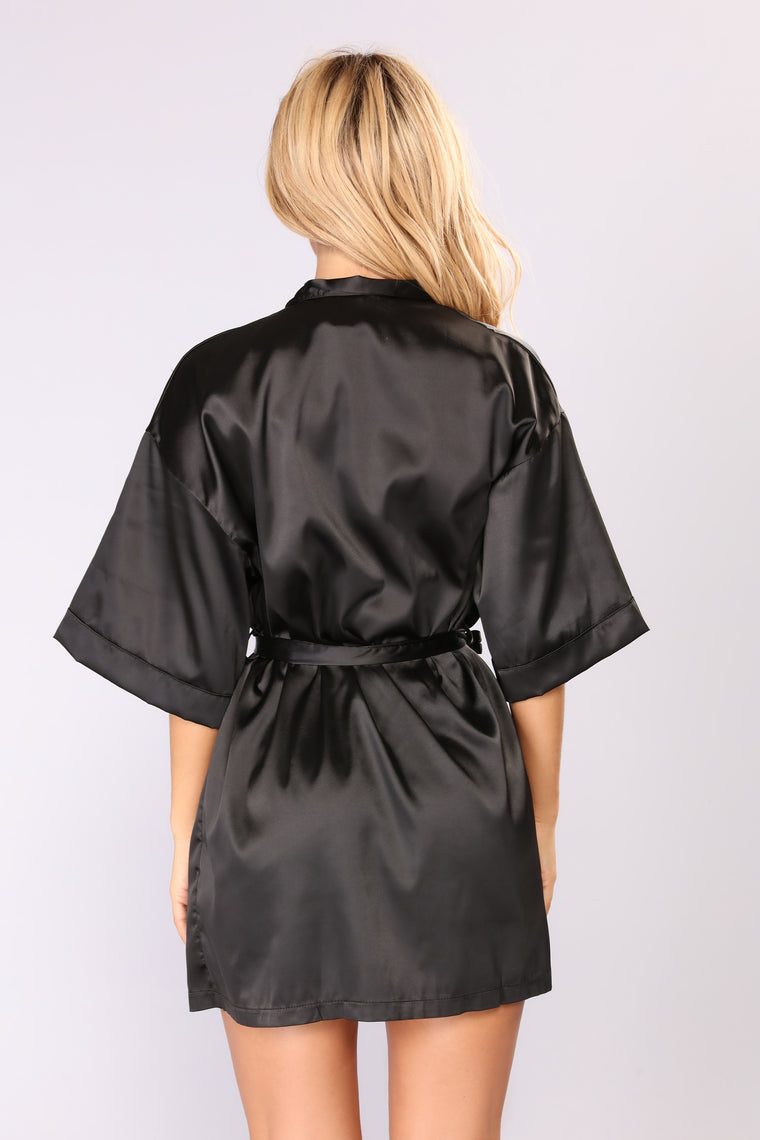 Lazy Mornings Robe - Black