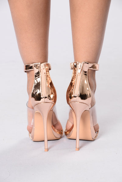 3's A Charm Heel - Rose Gold