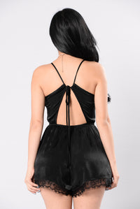 Beauty Sleep Romper - Black