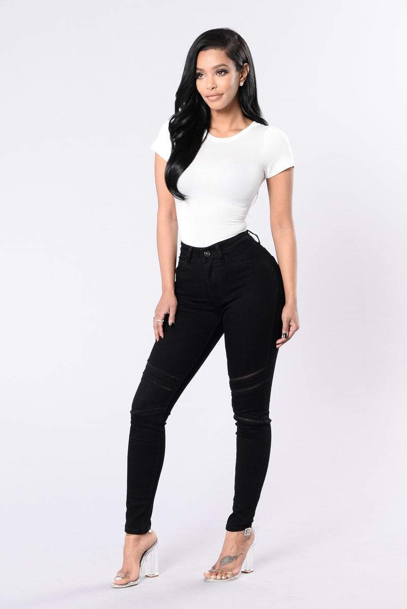 That's Meshed Up Jeans - Black