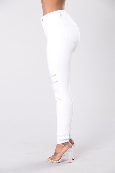 That's Meshed Up Jeans - White