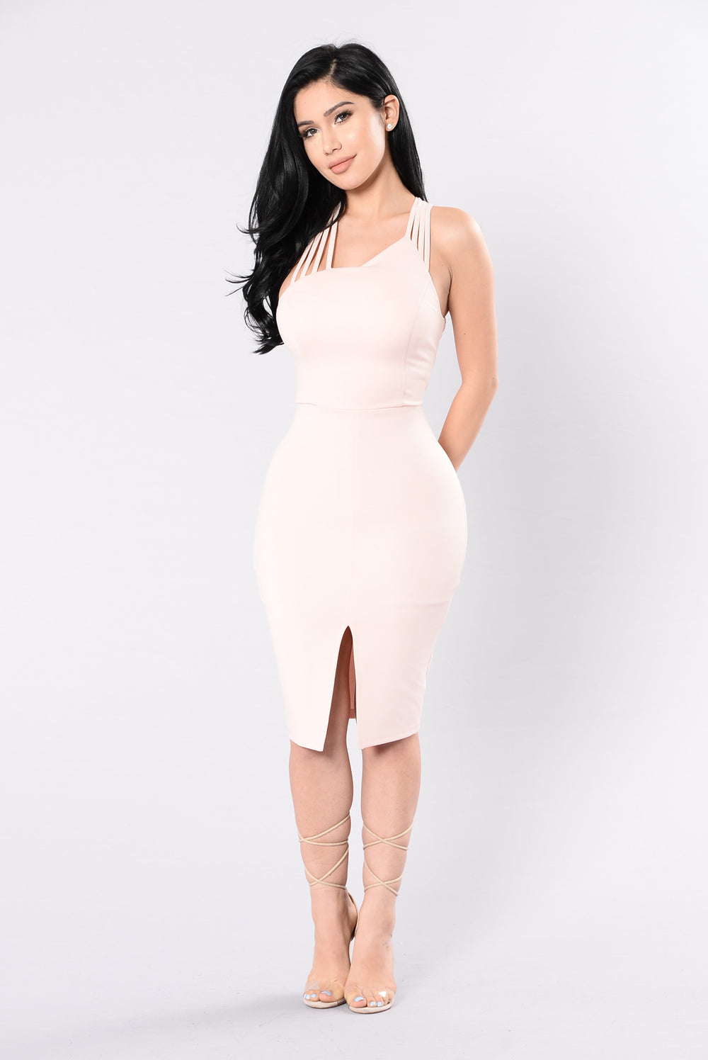 Work Hard For The Money Dress - Mango Peach