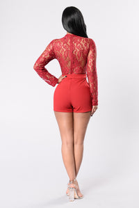 Lovely Lady Romper - Berry