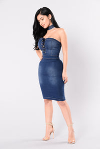 Old Flames Dress - Medium Denim