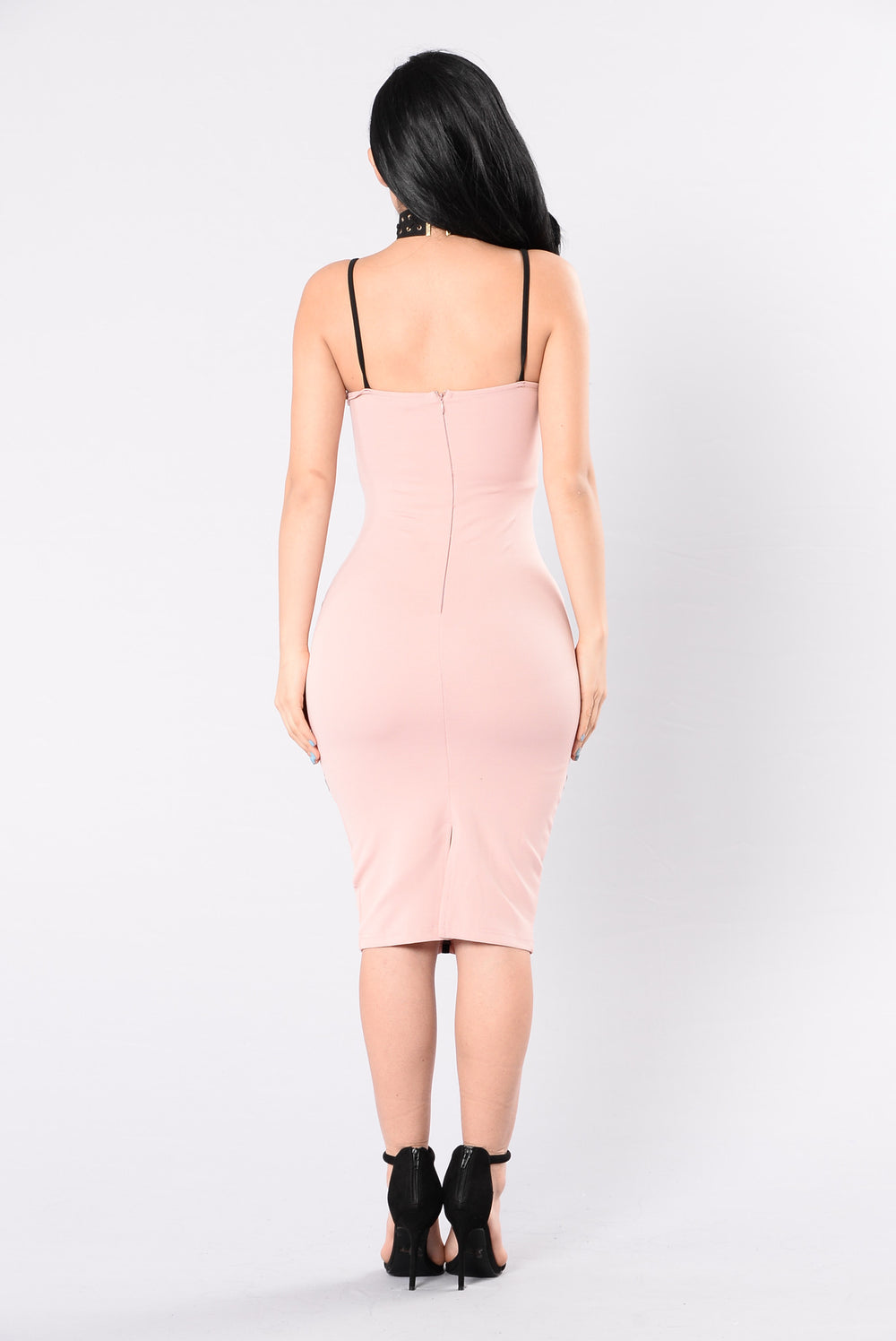 What A Fox Dress - Mauve/Black