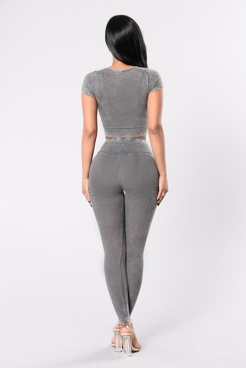 Repetition Leggings - Grey