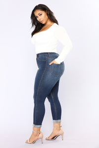 Anything But Square Long Sleeve Bodysuit - Ivory Angle 9