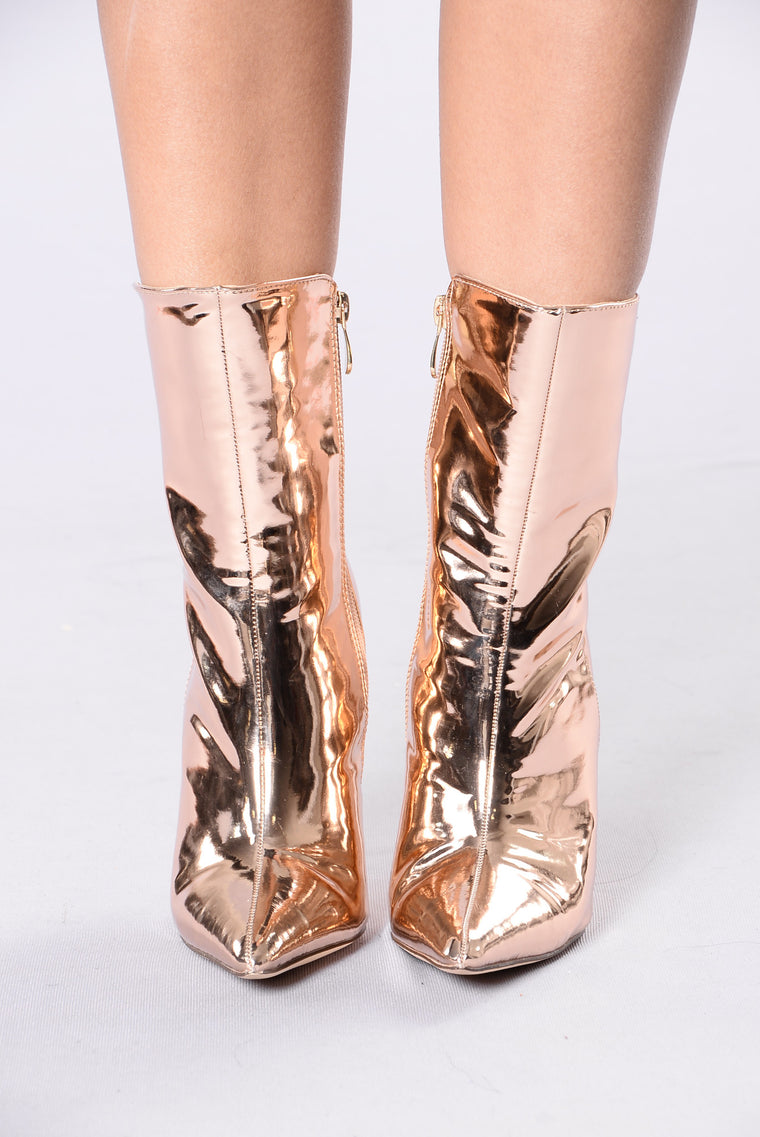 Not Your Basic B Boot - Rose Gold