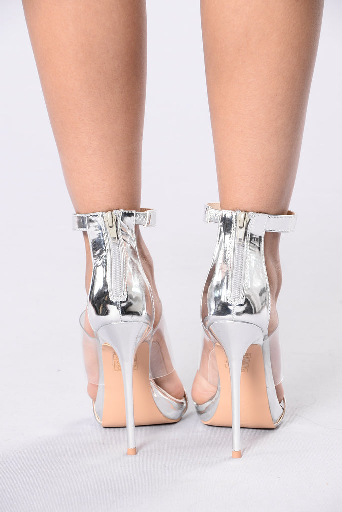 3's A Charm Heel - Silver