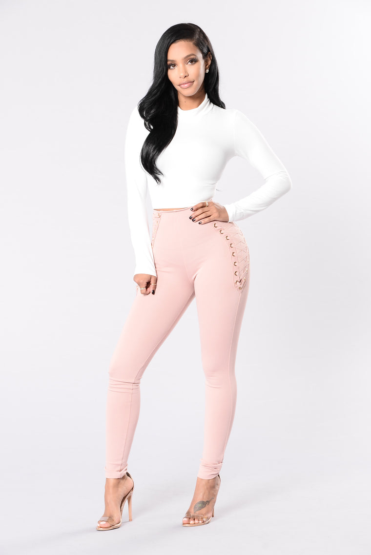 Fall Too Deep Pants - Mauve