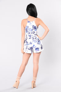 Love Is A Game Romper - Lilac