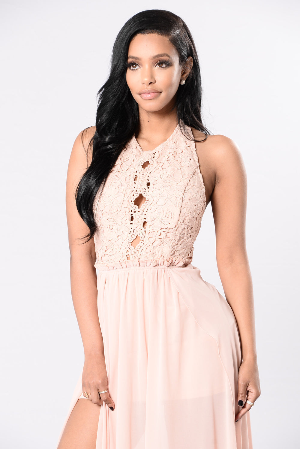 Don't Stop Your Lovin Dress - Blush