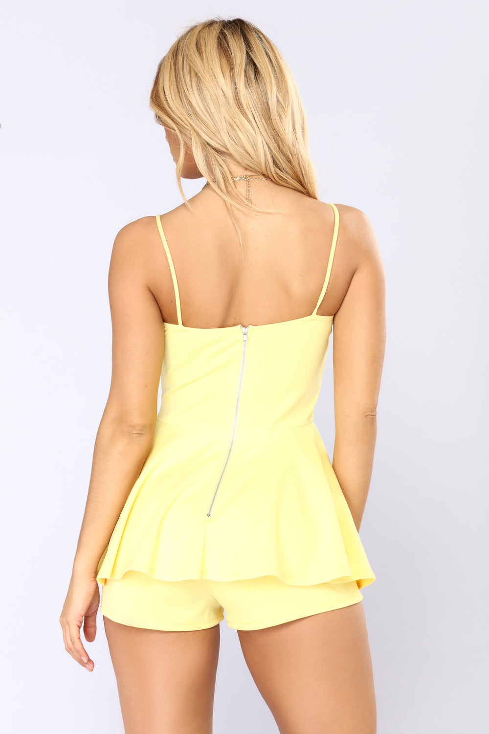 Key To Success Romper - Yellow