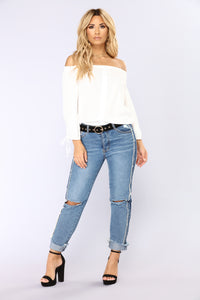 Eden Off Shoulder Top - Ivory