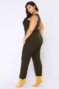 Rivalry Utility Jumpsuit - Olive