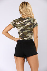 Learn A Thing Or Two Camo Bodysuit - Camo