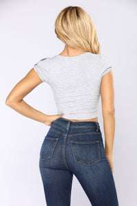 Sweet And Simple Top - Heather Grey