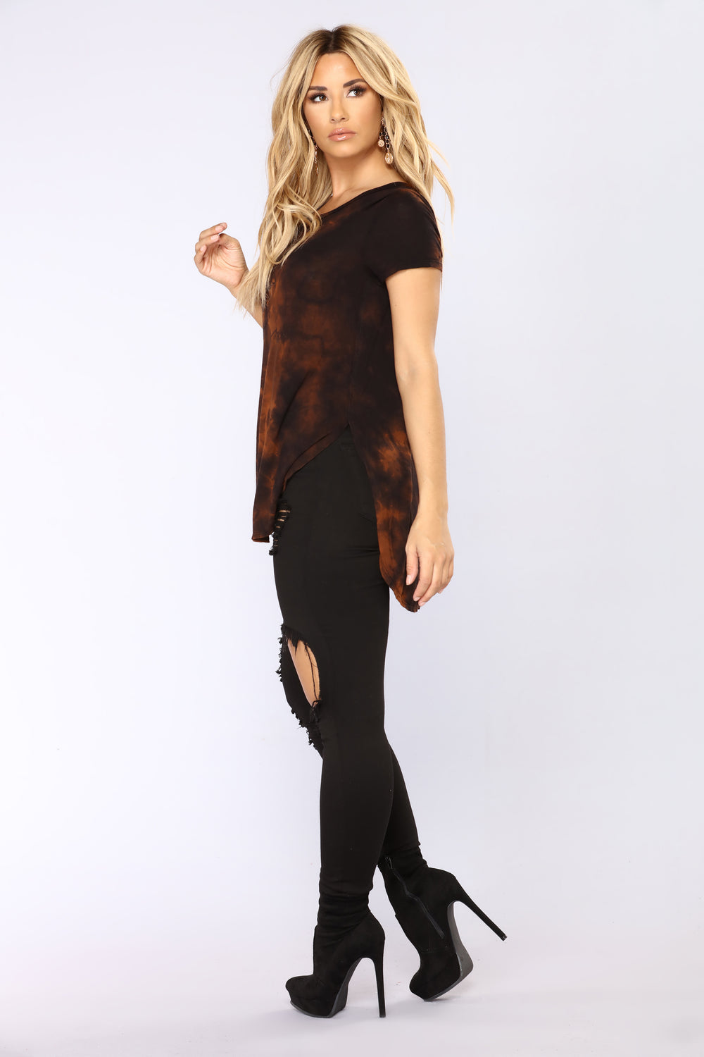Dark Night Tie Dye Top - Black/Combo
