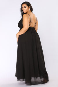 Monroe Wrap Dress - Black