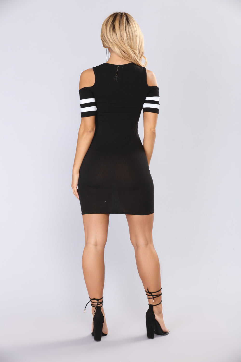 Force Field Cold Shoulder Dress - Black