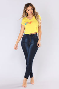 Women In Love Graphic Top - Yellow