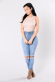 Fixate On Me Bodysuit - Blush