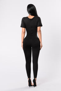 Heartthrob Jumpsuit - Black