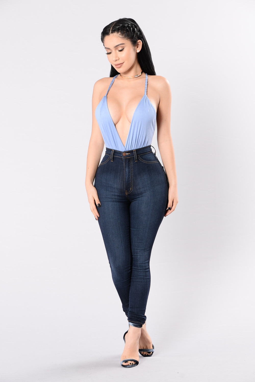 I'll Be Your Escape Bodysuit - Dusty Blue