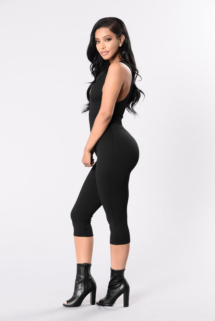 Capri Spree Jumpsuit - Black