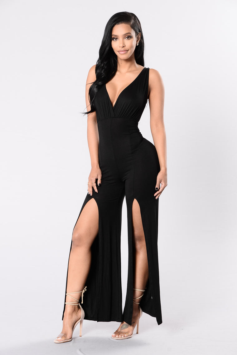 Down For You Jumpsuit - Black