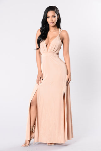 Hymn For The Weekend Dress - Nude