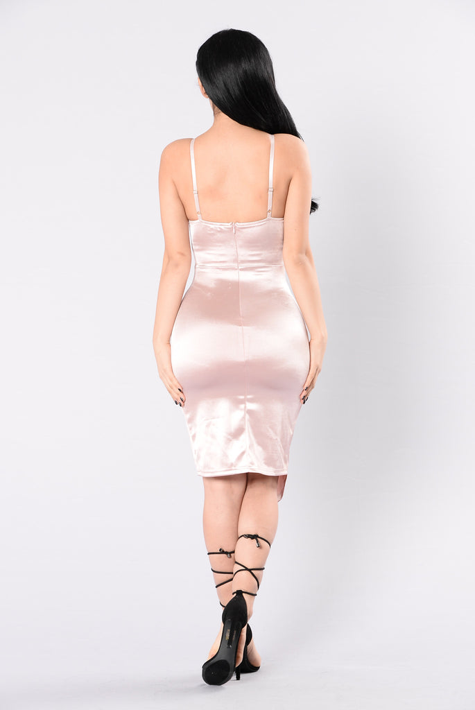 Faded On Your Love Dress - Blush