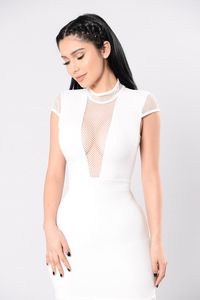 Miss Tease Dress - Ivory