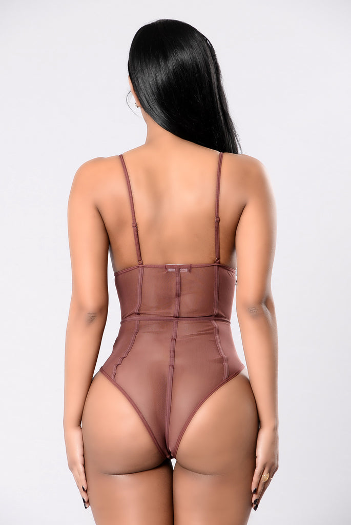 Show Me The Other Side Bodysuit - Red Brown